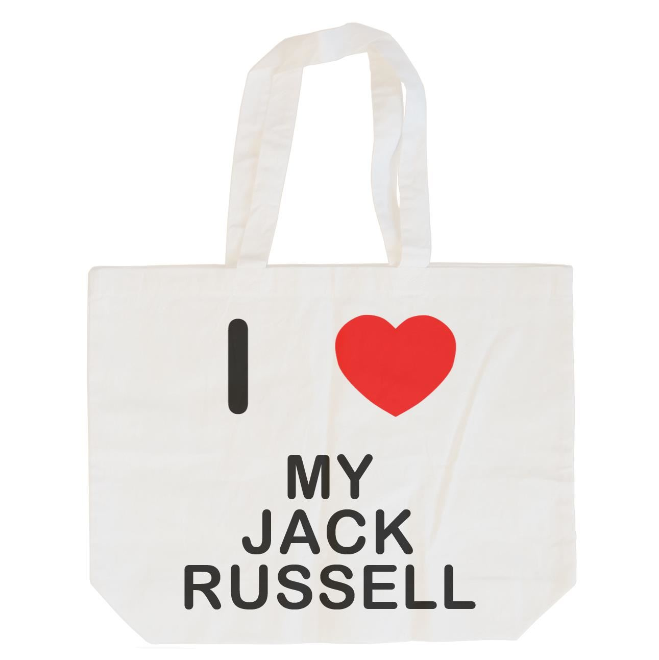 I Love My Jack Russell - Cotton Bag | Size choice Tote, Shopper or Sling