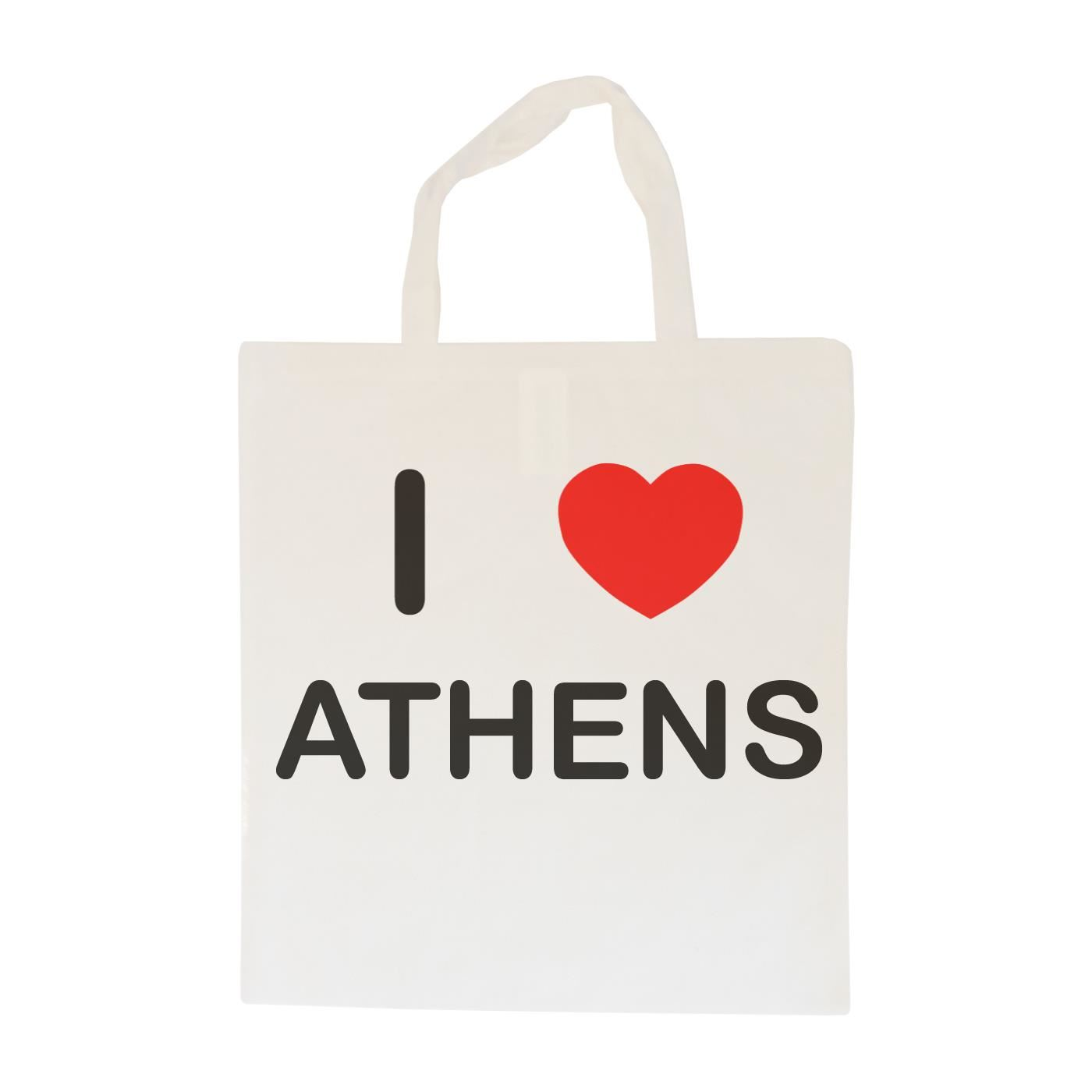 I Love Athens - Cotton Bag | Size choice Tote, Shopper or Sling