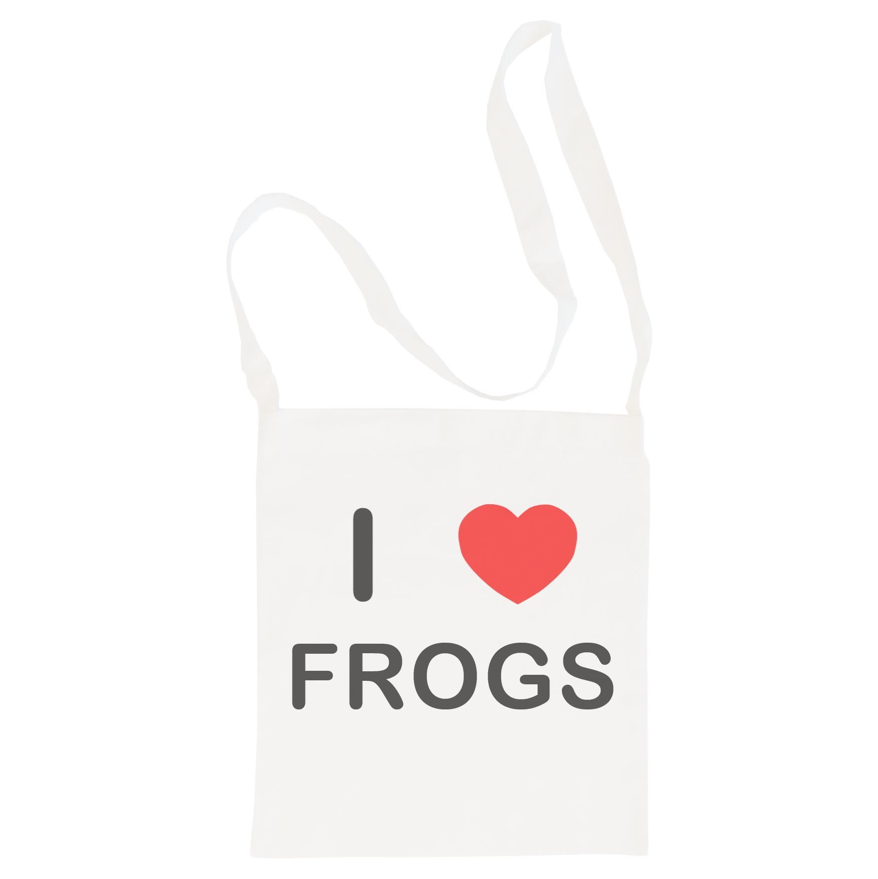 I Love Frogs - Cotton Bag | Size choice Tote, Shopper or Sling