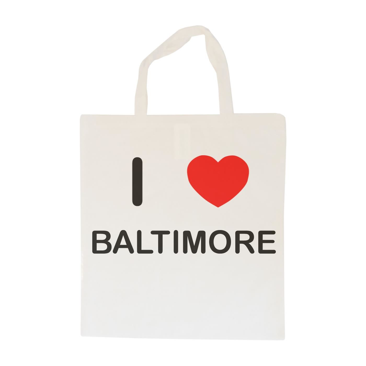 I Love Baltimore - Cotton Bag | Size choice Tote, Shopper or Sling
