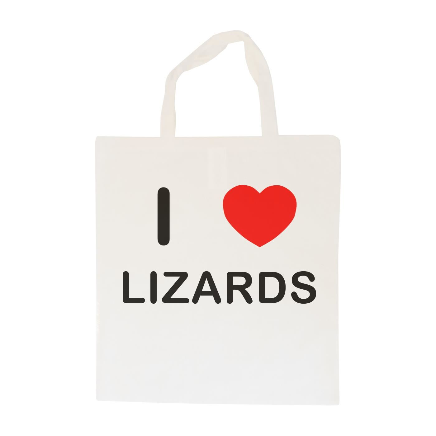 I Love Lizards - Cotton Bag | Size choice Tote, Shopper or Sling