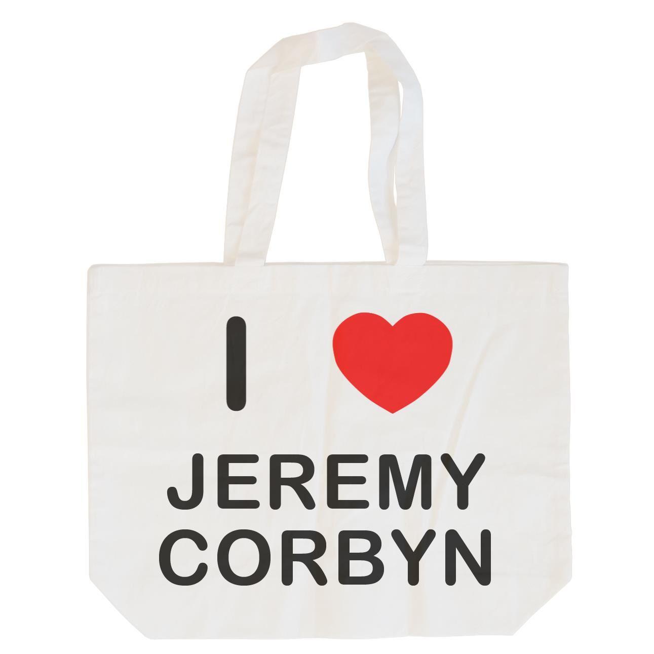 I Love Jeremy Corbyn - Cotton Bag | Size choice Tote, Shopper or Sling