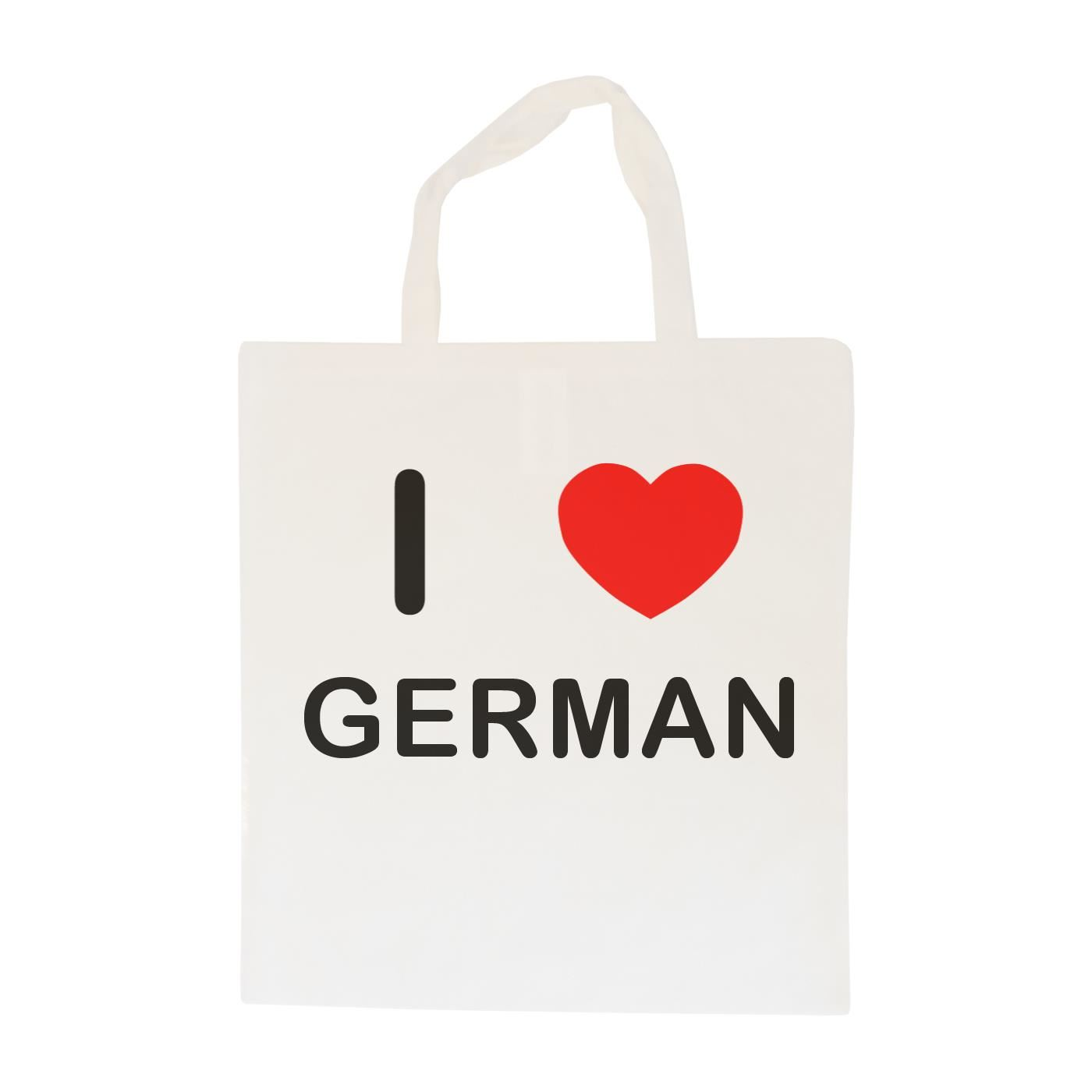 I Love German - Cotton Bag | Size choice Tote, Shopper or Sling