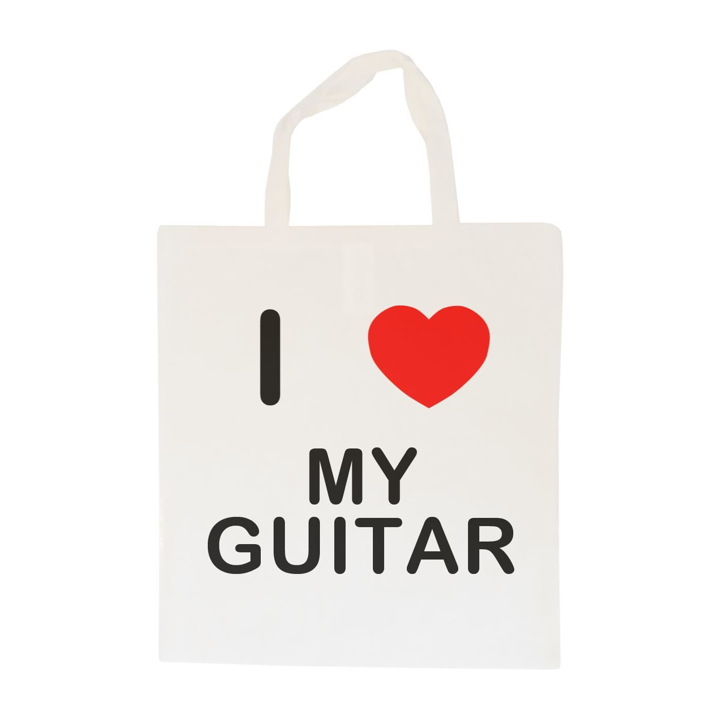 I Love My Guitar - Cotton Bag | Size choice Tote, Shopper or Sling