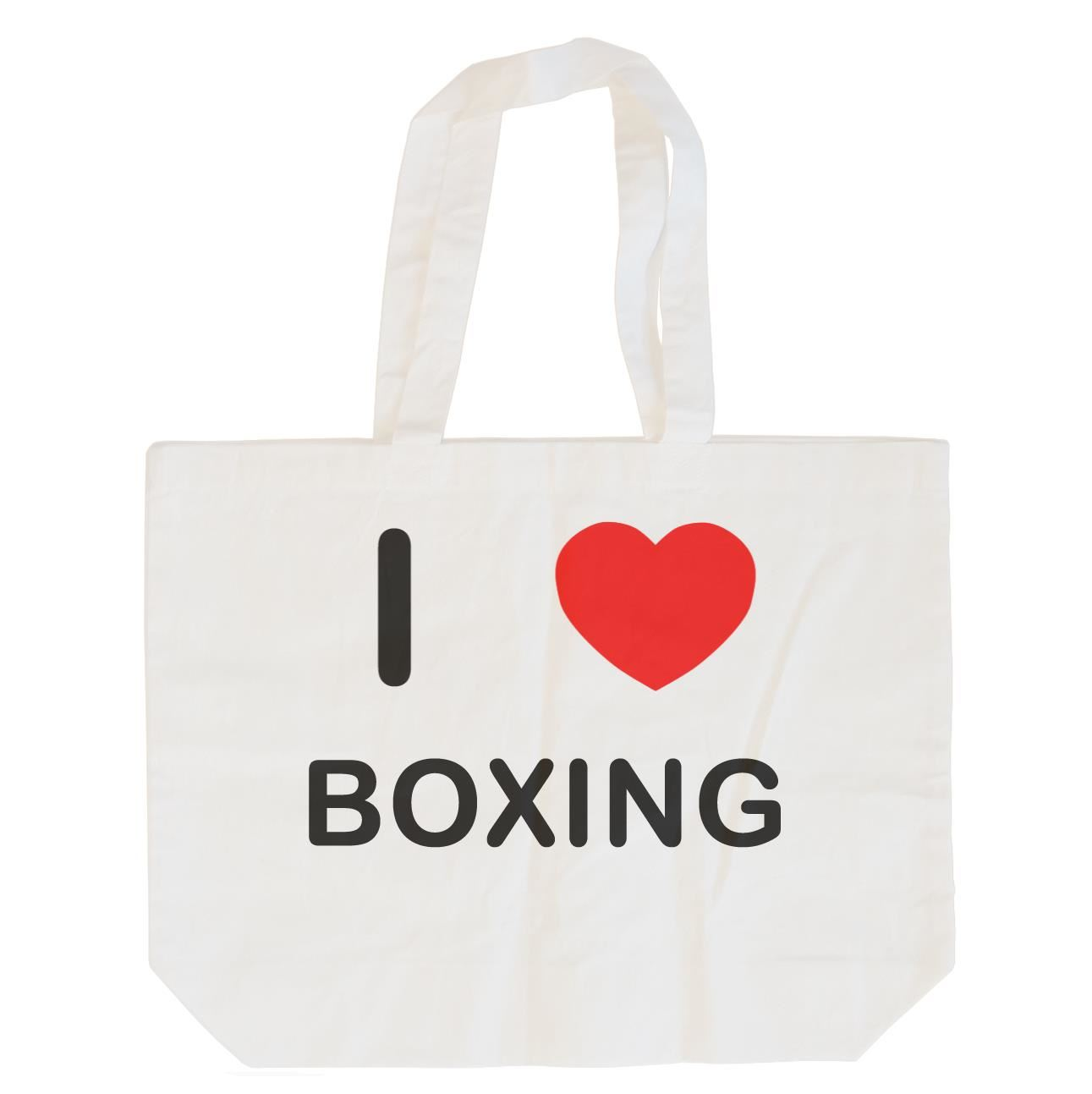 I Love Boxing - Cotton Bag | Size choice Tote, Shopper or Sling