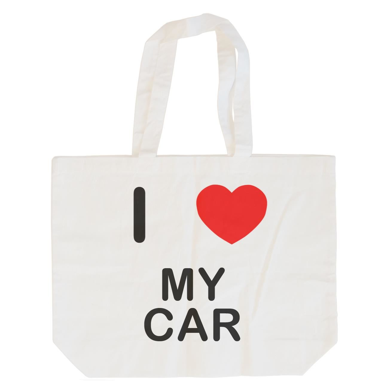 I Love My Car - Cotton Bag | Size choice Tote, Shopper or Sling