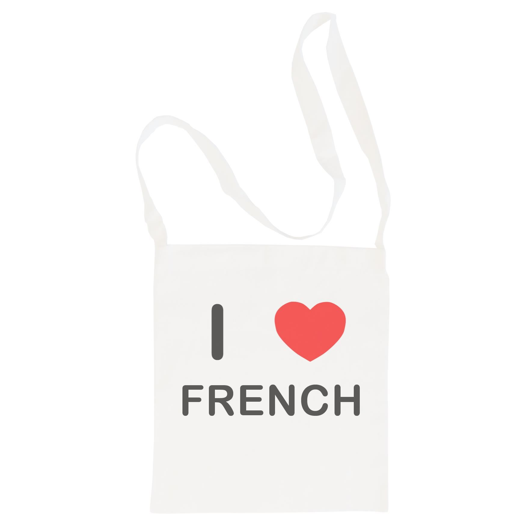 I Love French - Cotton Bag | Size choice Tote, Shopper or Sling