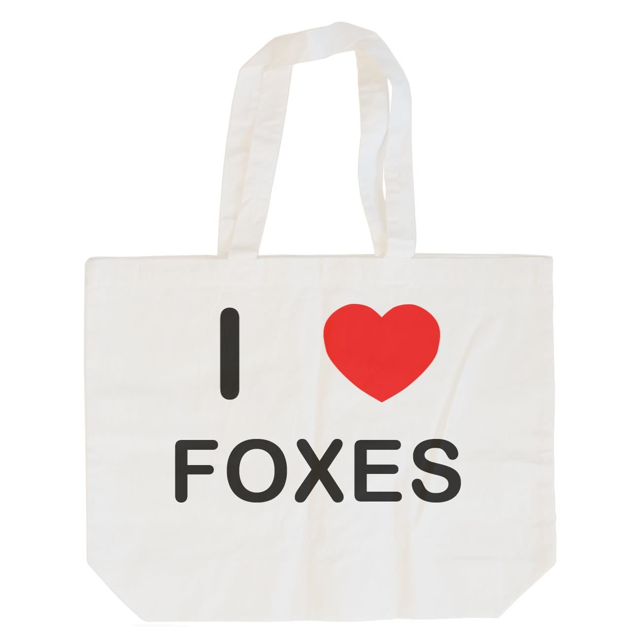 I Love Foxes - Cotton Bag | Size choice Tote, Shopper or Sling