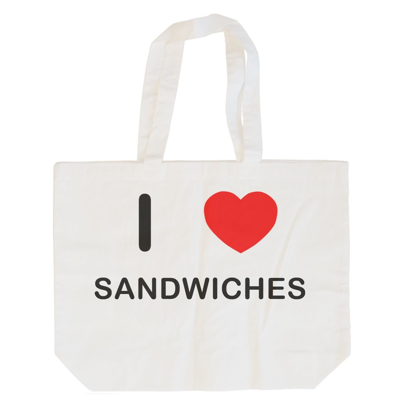 I Love Sandwiches - Cotton Bag | Size choice Tote, Shopper or Sling