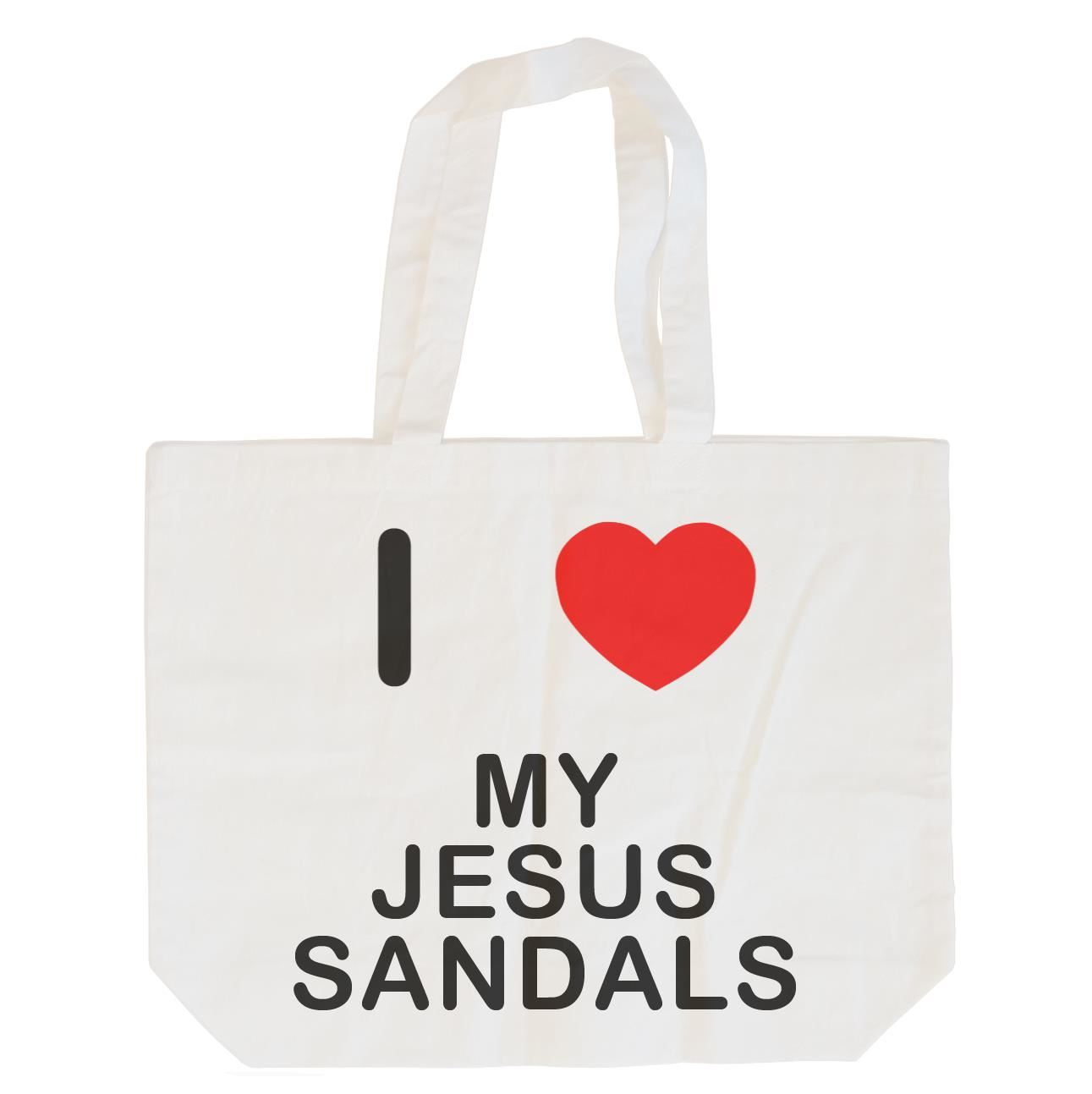 I Love My Jesus Sandals - Cotton Bag | Size choice Tote, Shopper or Sling