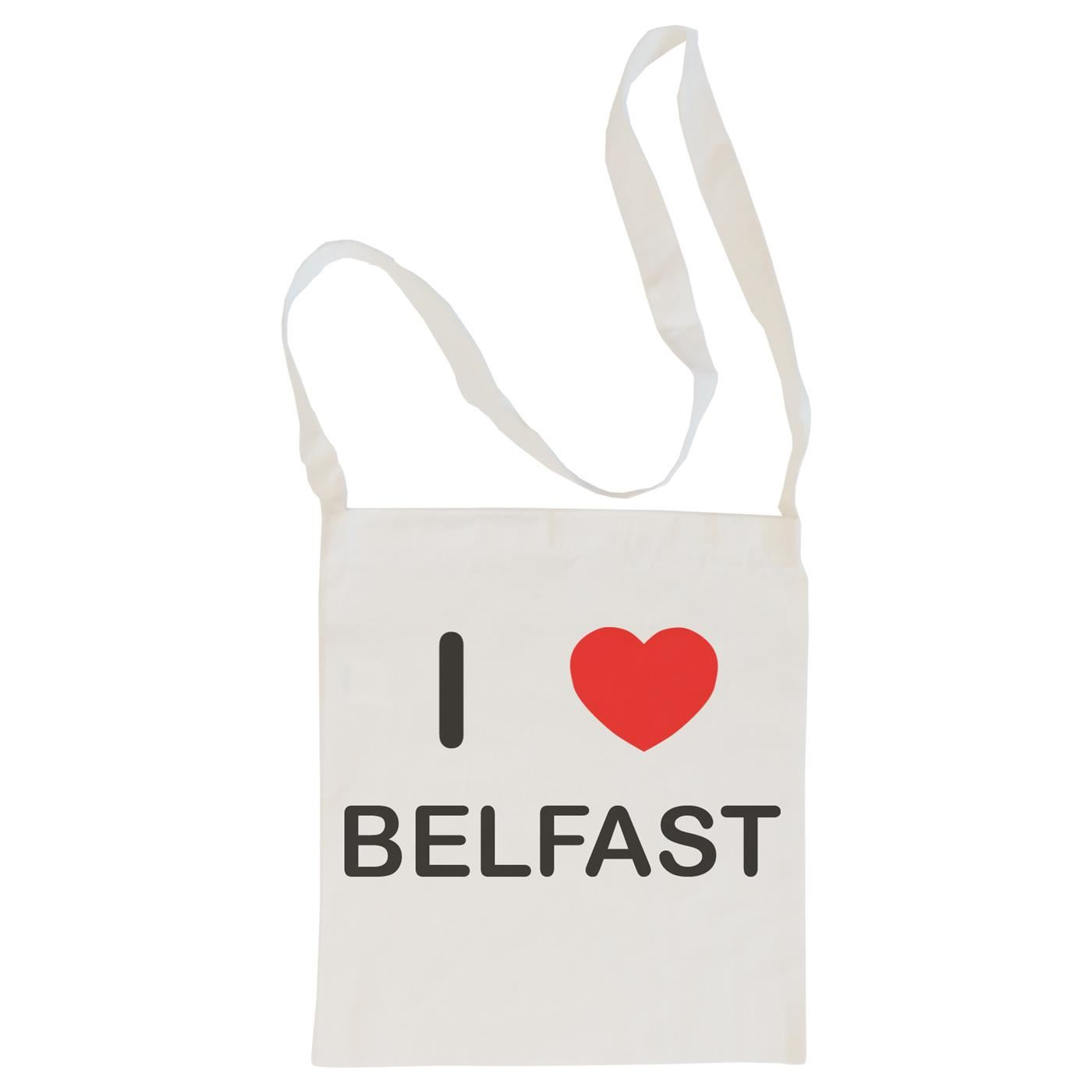 I Love Belfast - Cotton Bag | Size choice Tote, Shopper or Sling