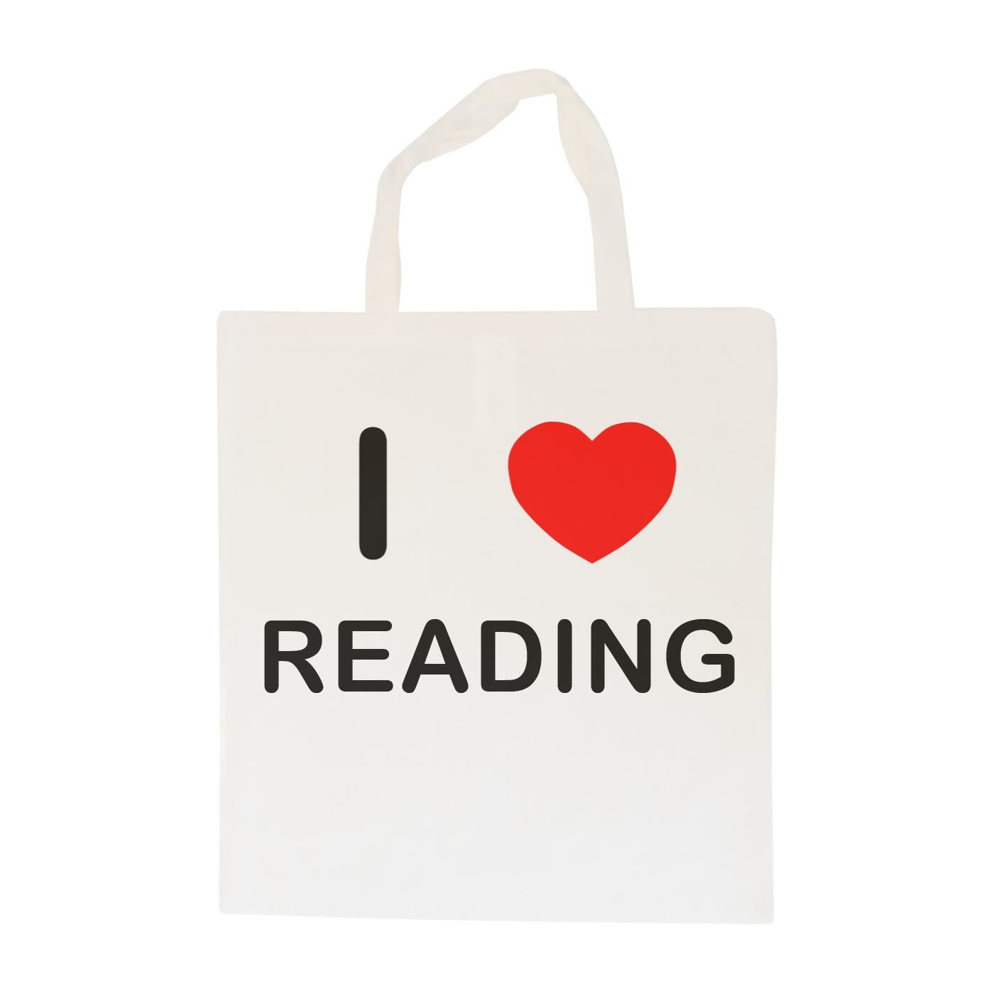 I Love Reading - Cotton Bag | Size choice Tote, Shopper or Sling