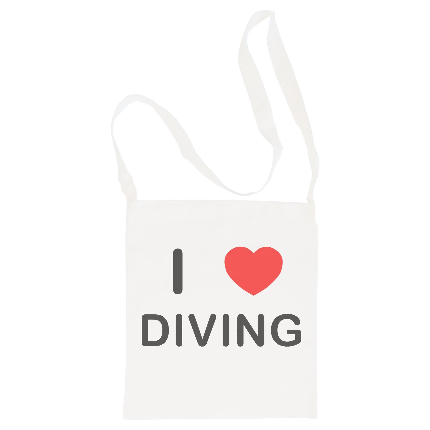 I Love Diving - Cotton Bag | Size choice Tote, Shopper or Sling