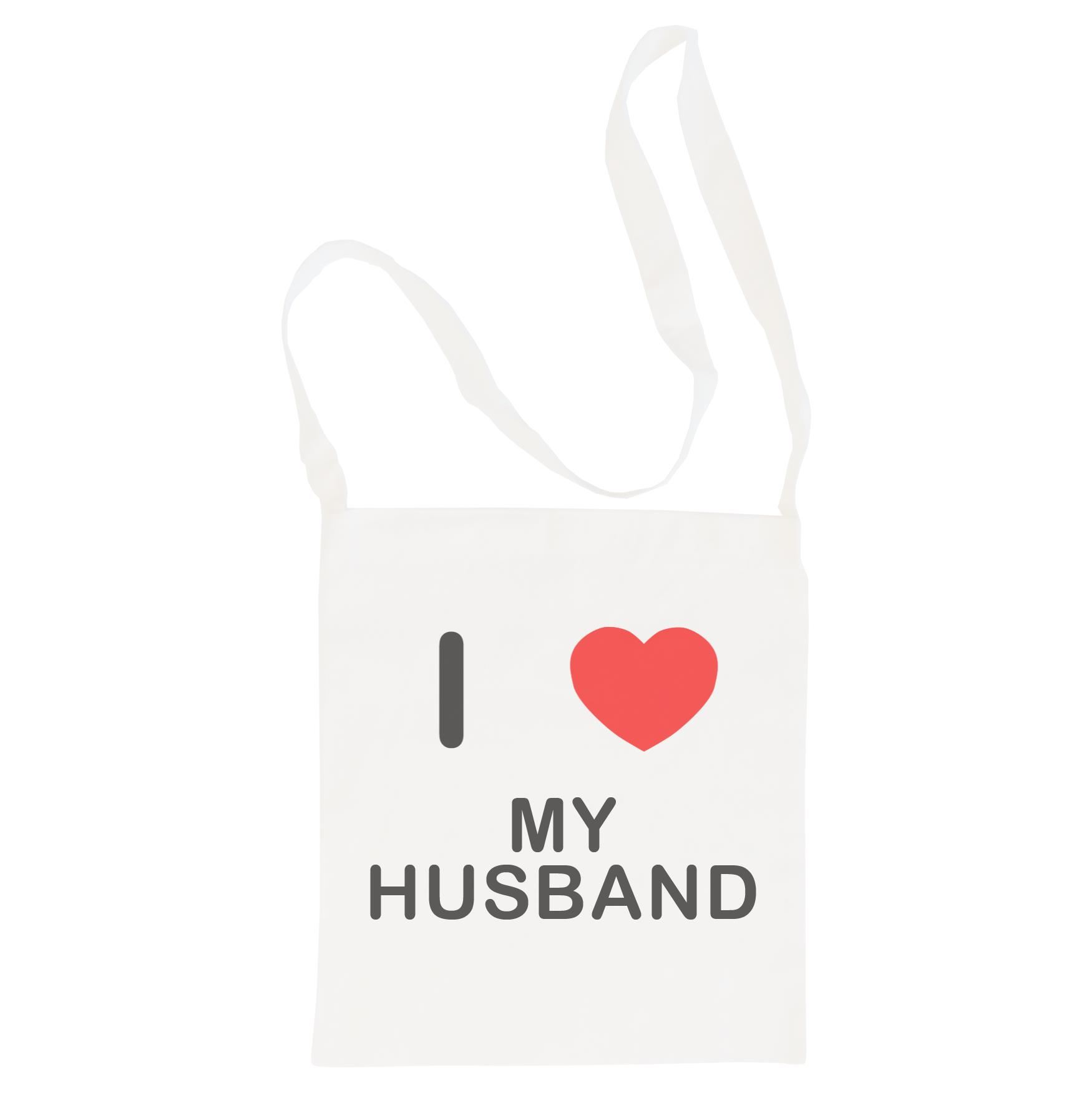 I Love My Husband - Cotton Bag | Size choice Tote, Shopper or Sling