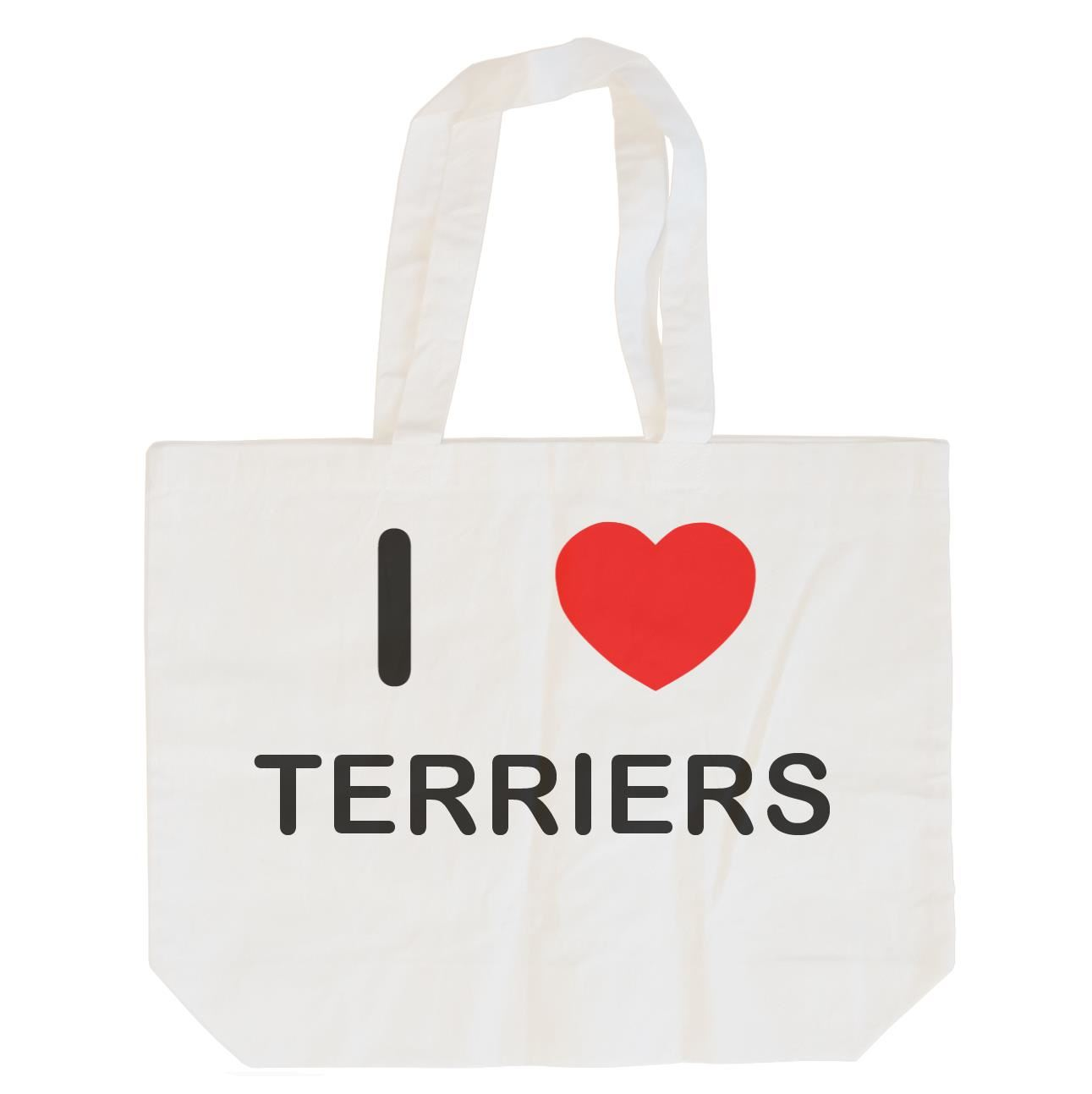 I Love Terriers - Cotton Bag | Size choice Tote, Shopper or Sling