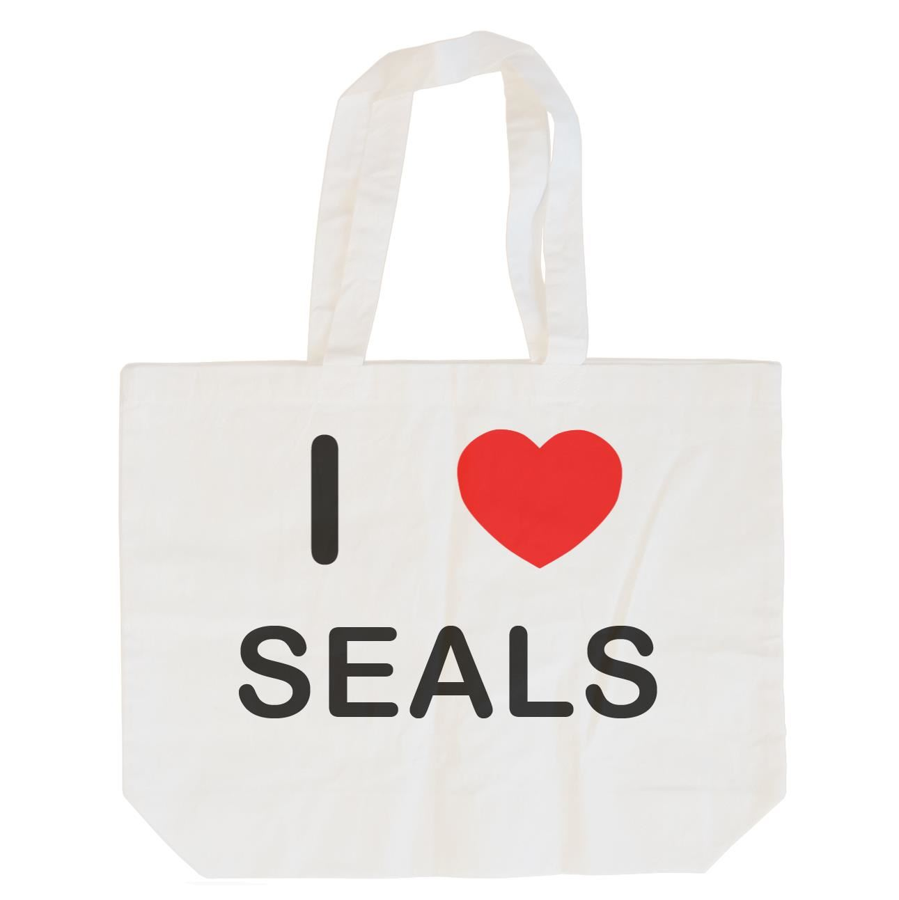 I Love Seals - Cotton Bag | Size choice Tote, Shopper or Sling