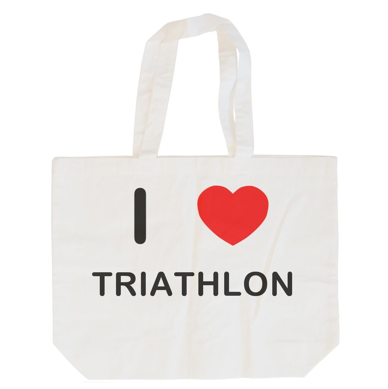 I Love Triathlon - Cotton Bag | Size choice Tote, Shopper or Sling