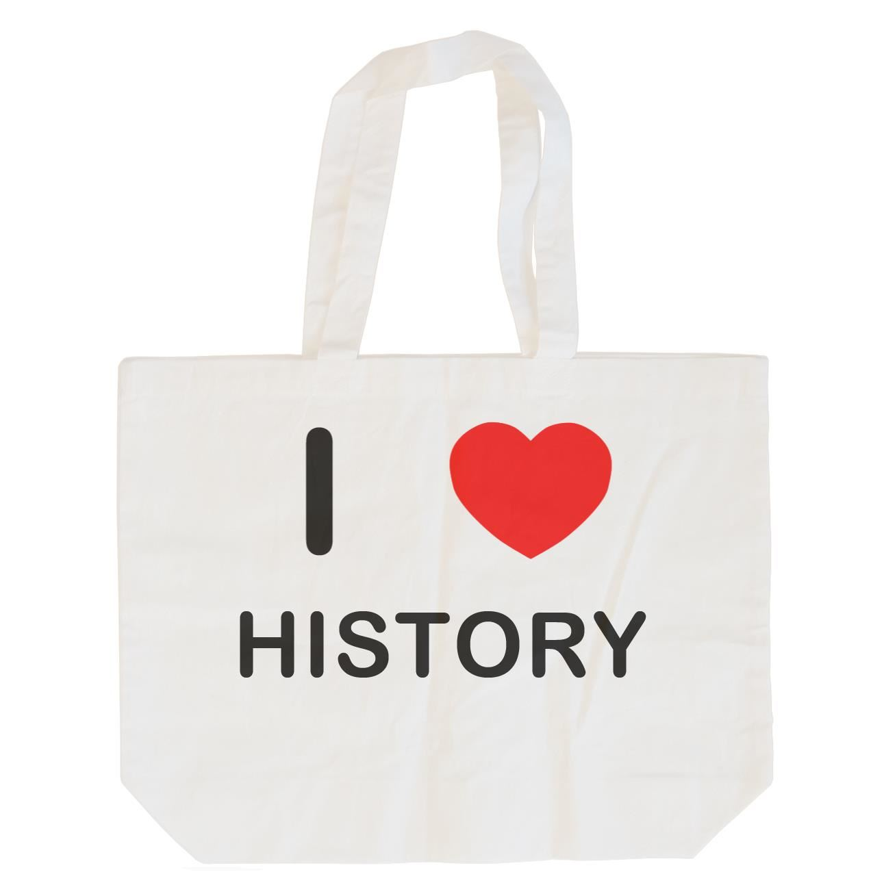 I Love History - Cotton Bag | Size choice Tote, Shopper or Sling