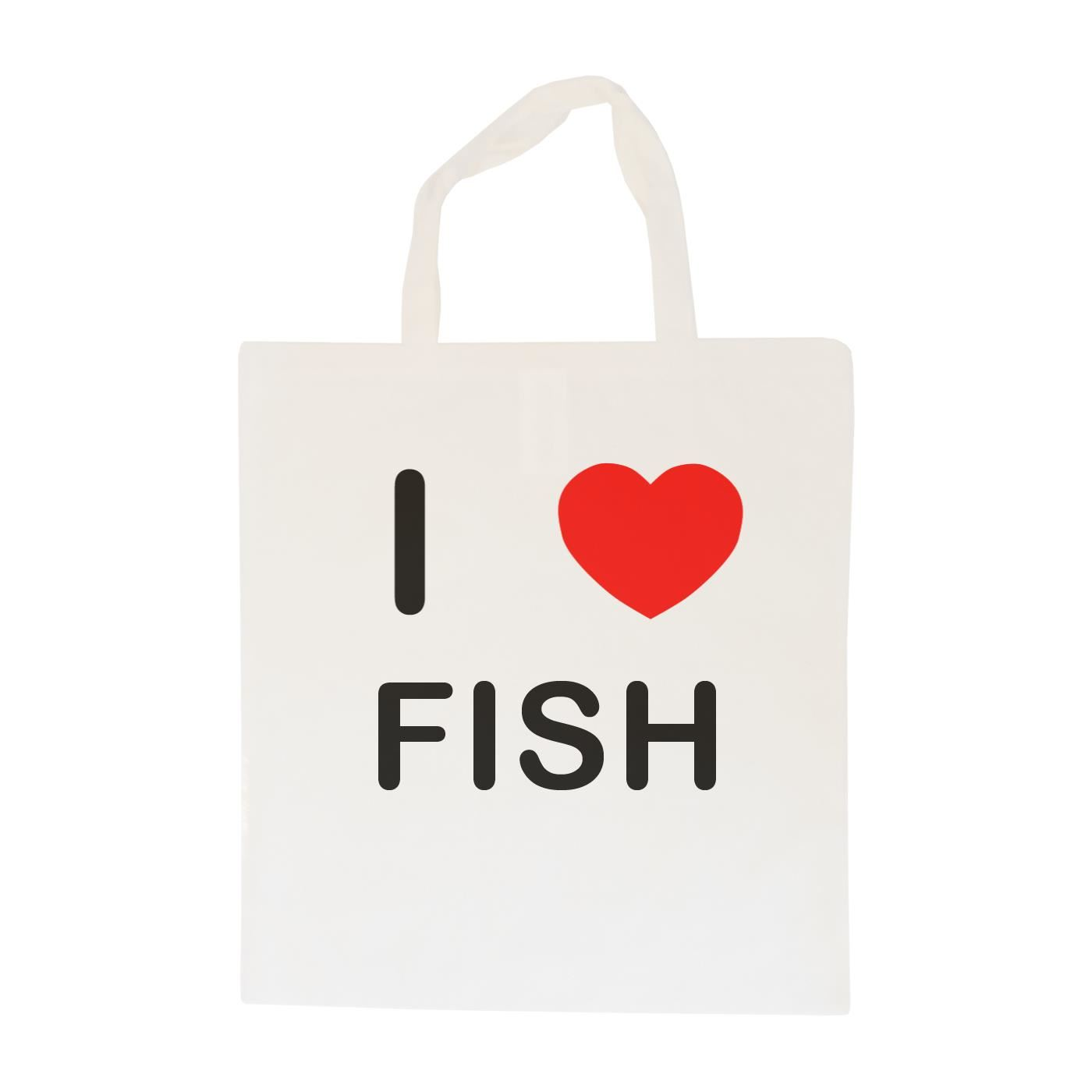 I Love Fish - Cotton Bag | Size choice Tote, Shopper or Sling