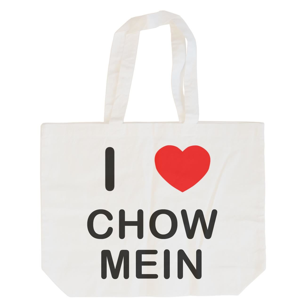 I Love Chow Mein - Cotton Bag | Size choice Tote, Shopper or Sling