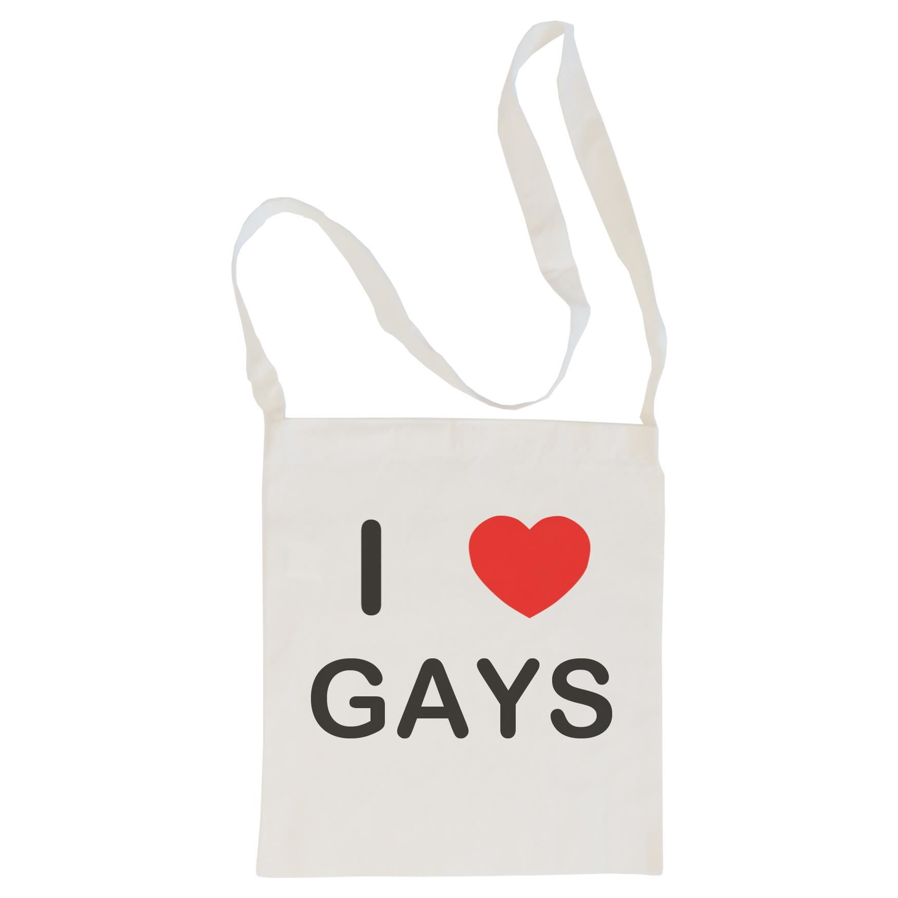 I Love Gays - Cotton Bag | Size choice Tote, Shopper or Sling
