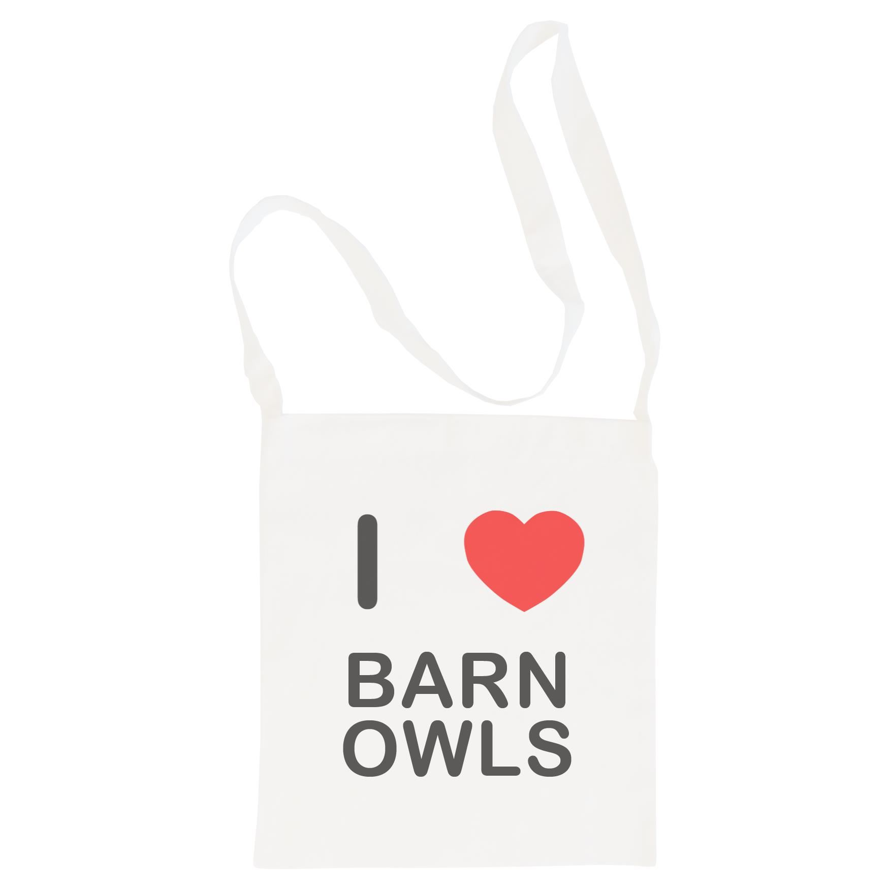 I Love Barn Owls - Cotton Bag | Size choice Tote, Shopper or Sling