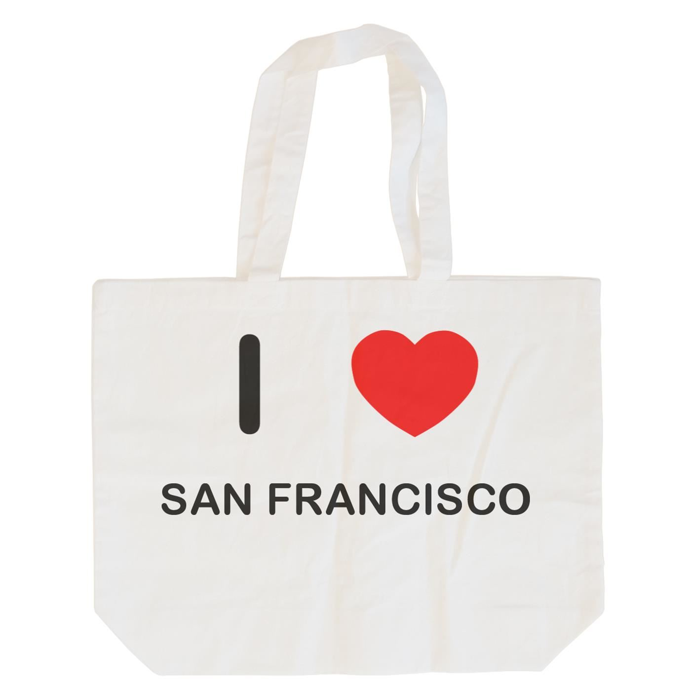 I Love San Francisco - Cotton Bag | Size choice Tote, Shopper or Sling