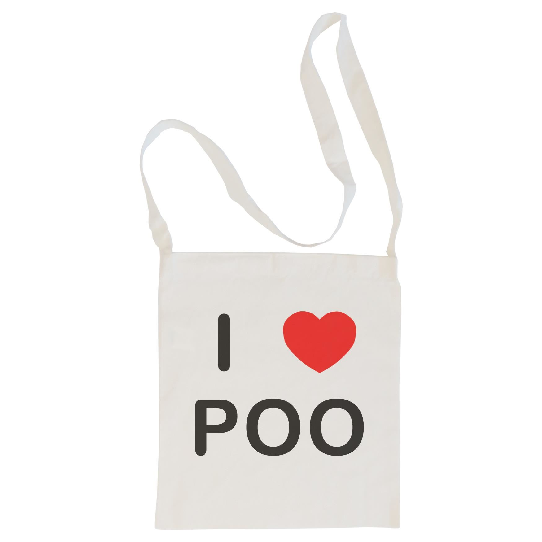 I Love Poo - Cotton Bag | Size choice Tote, Shopper or Sling