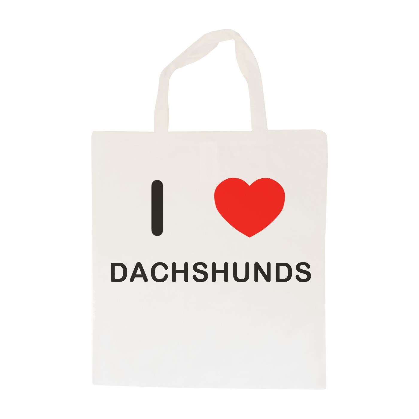 I Love Dachshunds - Cotton Bag | Size choice Tote, Shopper or Sling