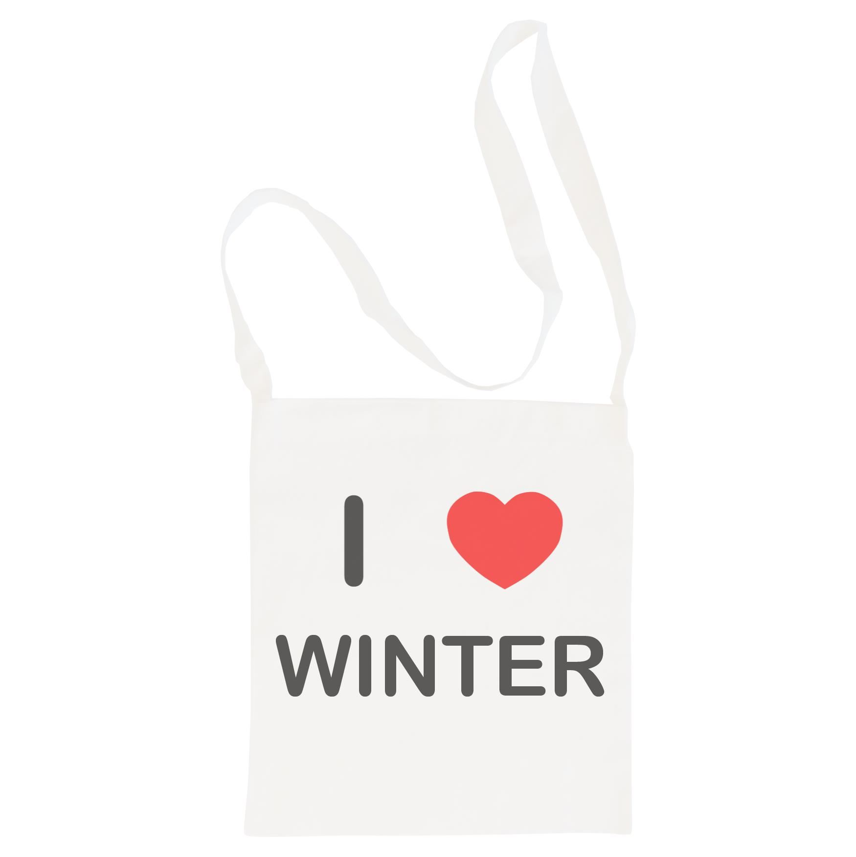 I Love Winter - Cotton Bag | Size choice Tote, Shopper or Sling