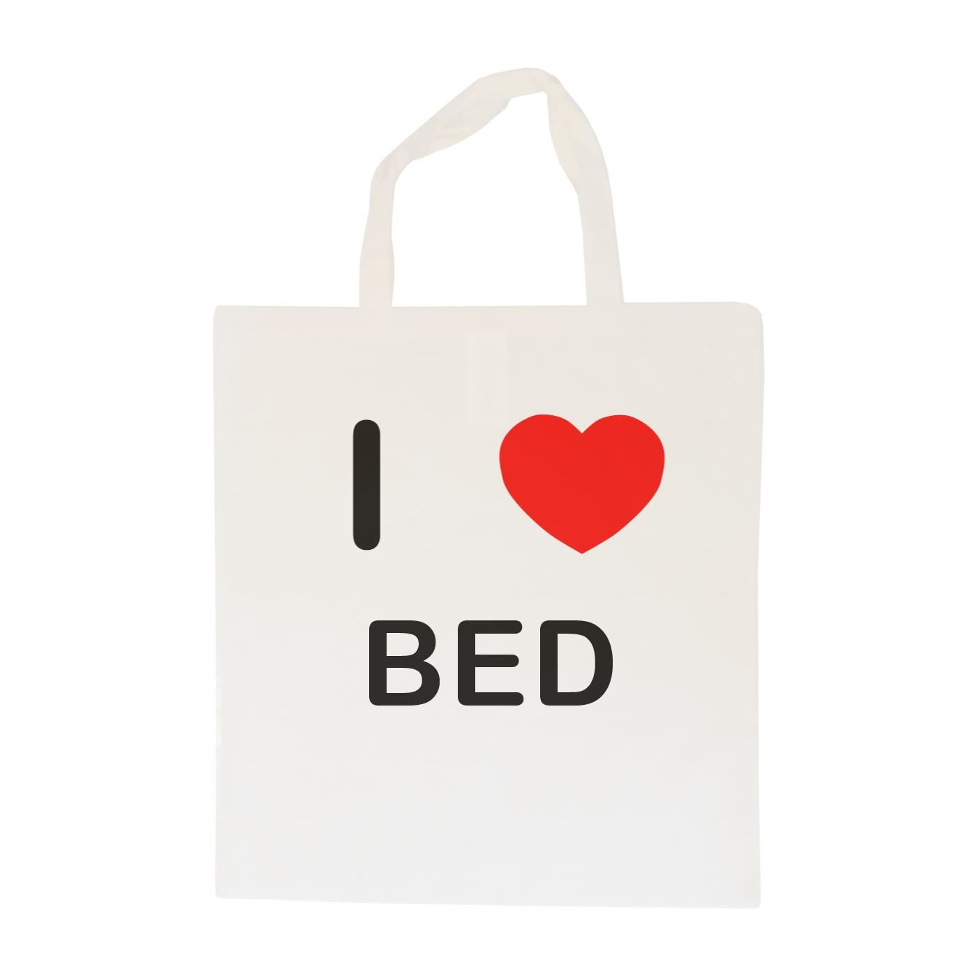 I Love Bed - Cotton Bag | Size choice Tote, Shopper or Sling