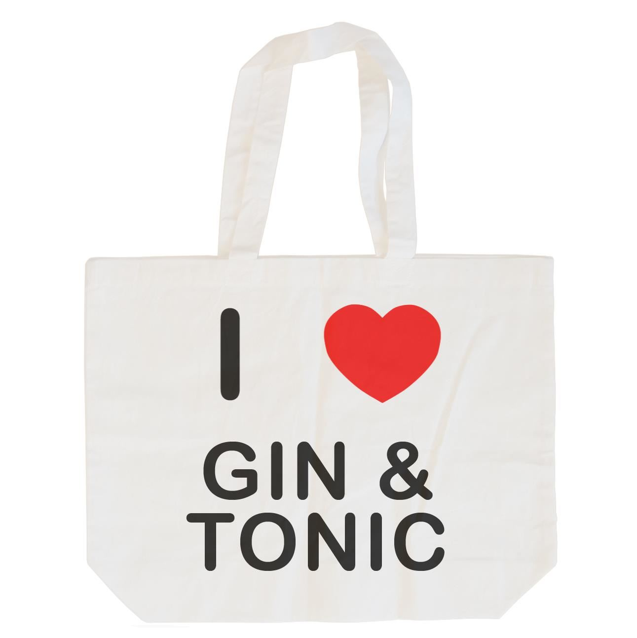 I Love Gin and Tonic - Cotton Bag | Size choice Tote, Shopper or Sling