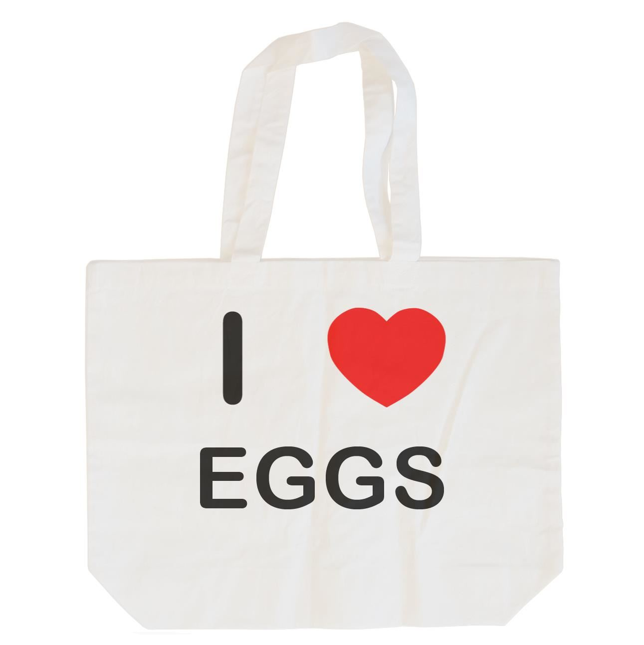 I Love Eggs - Cotton Bag | Size choice Tote, Shopper or Sling