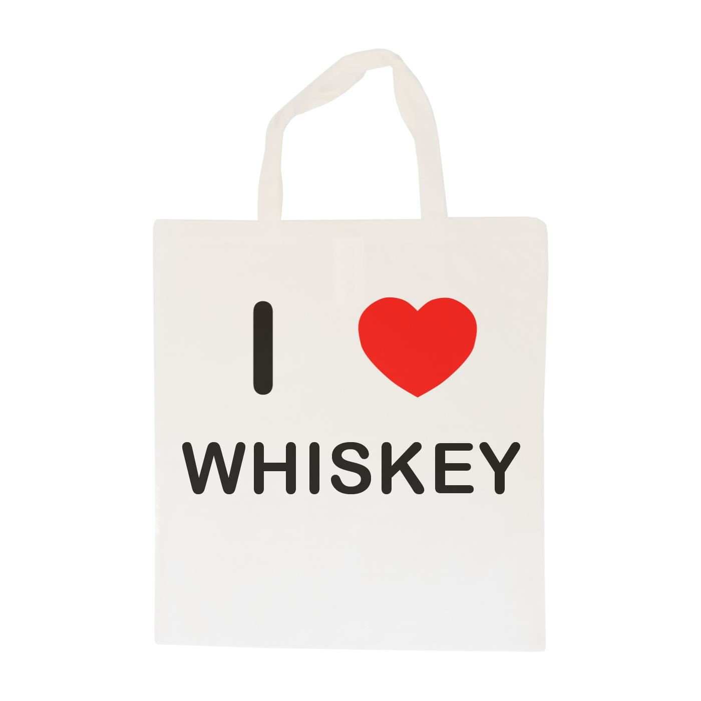 I Love Whiskey - Cotton Bag | Size choice Tote, Shopper or Sling