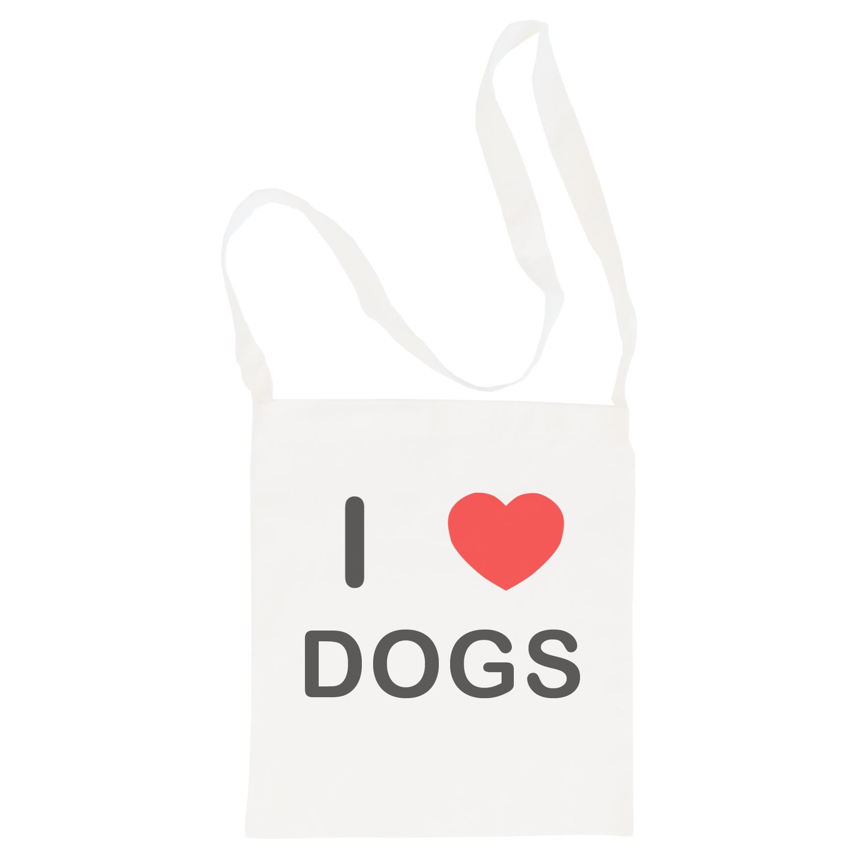 I Love Dogs - Cotton Bag | Size choice Tote, Shopper or Sling