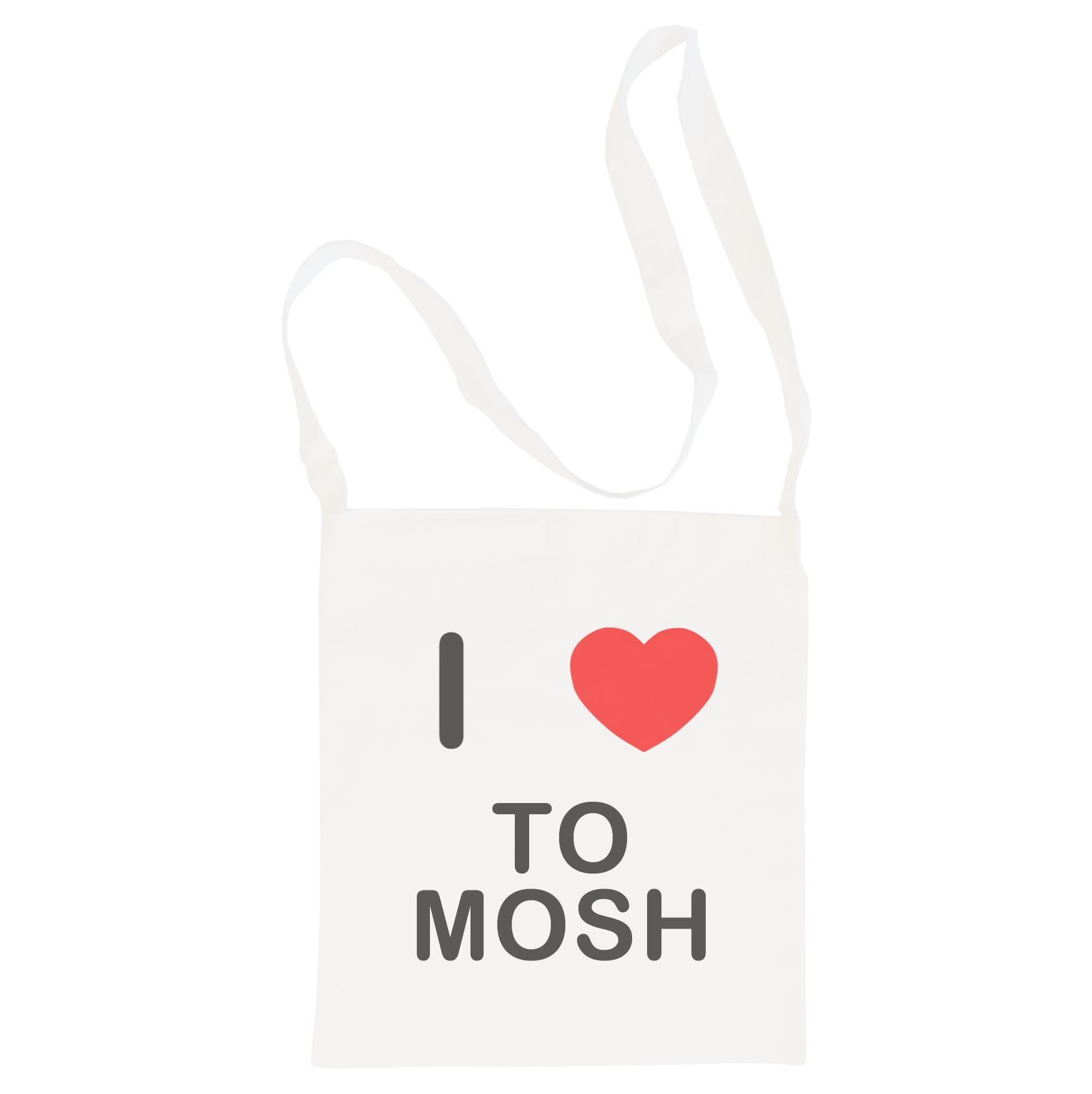 I Love To Mosh - Cotton Bag | Size choice Tote, Shopper or Sling