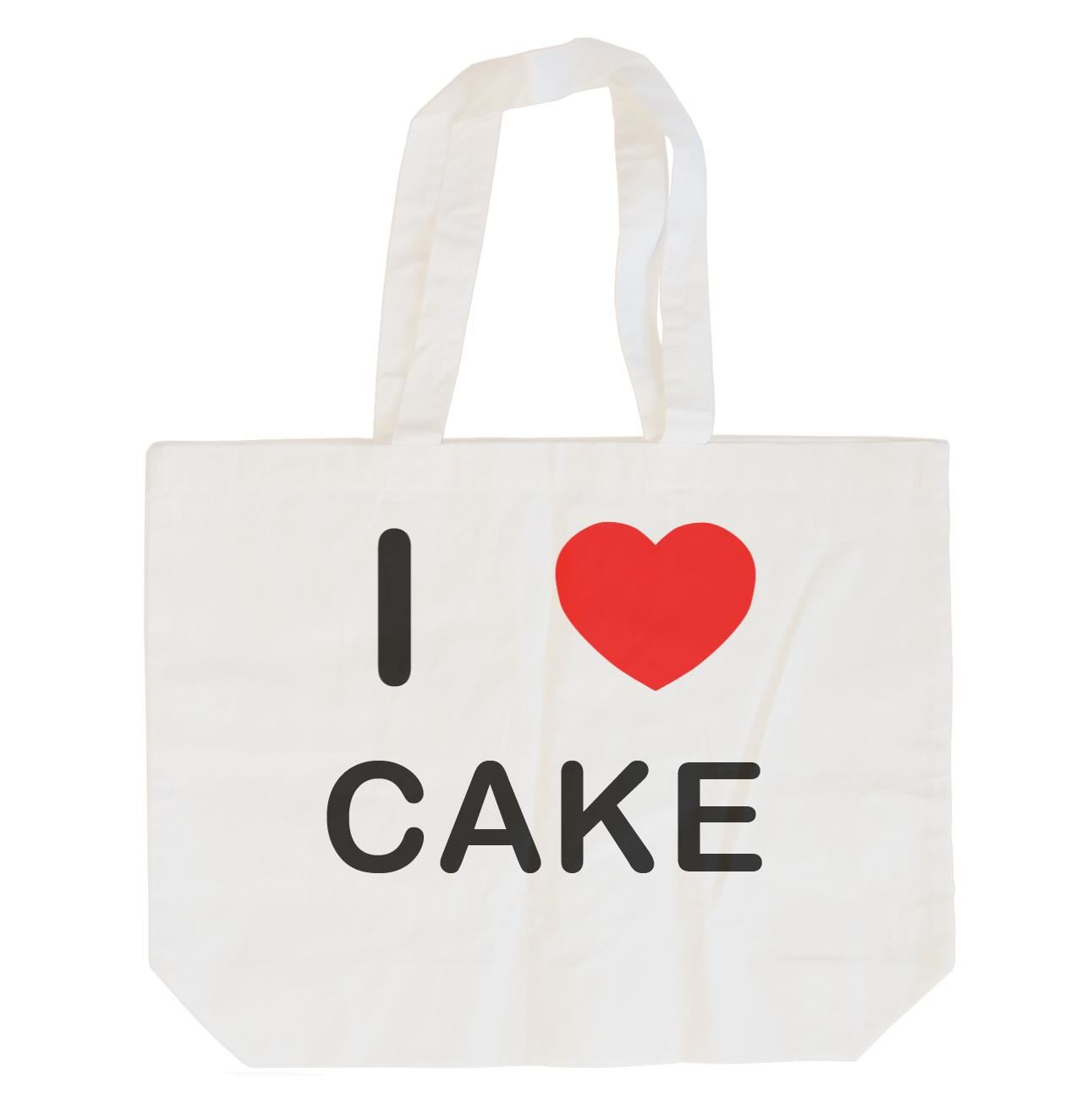 I Love Cake - Cotton Bag | Size choice Tote, Shopper or Sling