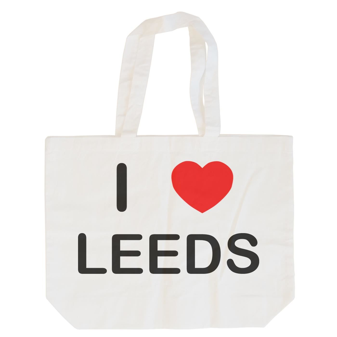 I Love Leeds - Cotton Bag | Size choice Tote, Shopper or Sling