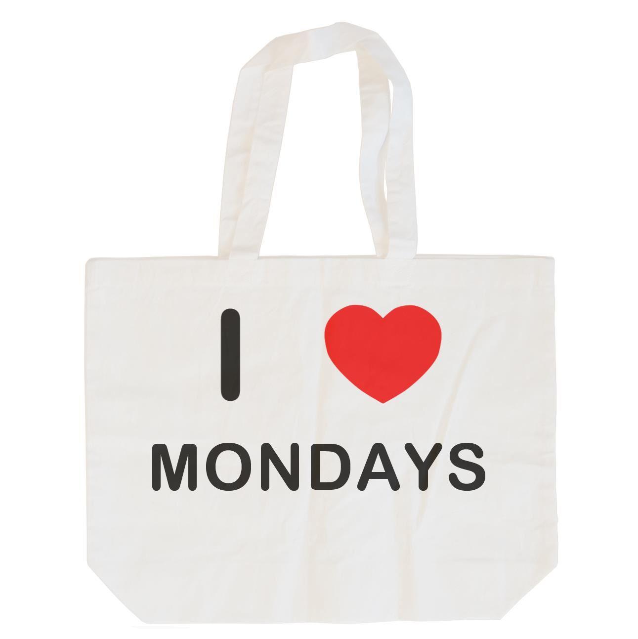 I Love Mondays - Cotton Bag   Size choice Tote, Shopper or Sling