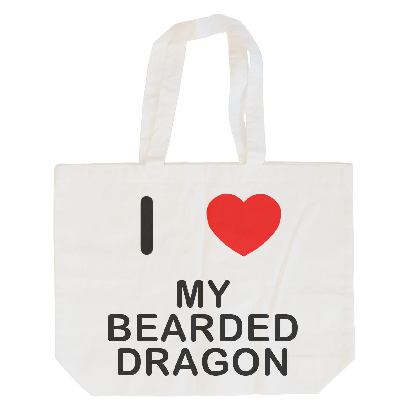 I Love My Bearded Dragon - Cotton Bag | Size choice Tote, Shopper or Sling