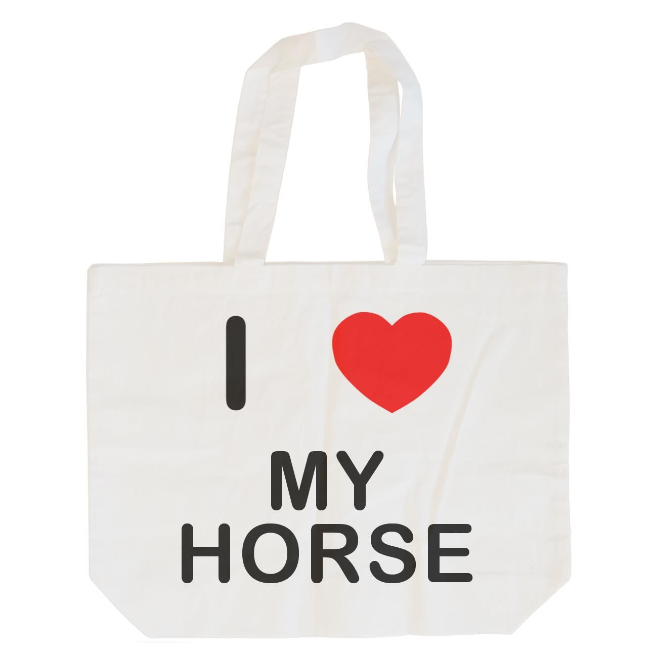 I Love My Horse - Cotton Bag | Size choice Tote, Shopper or Sling