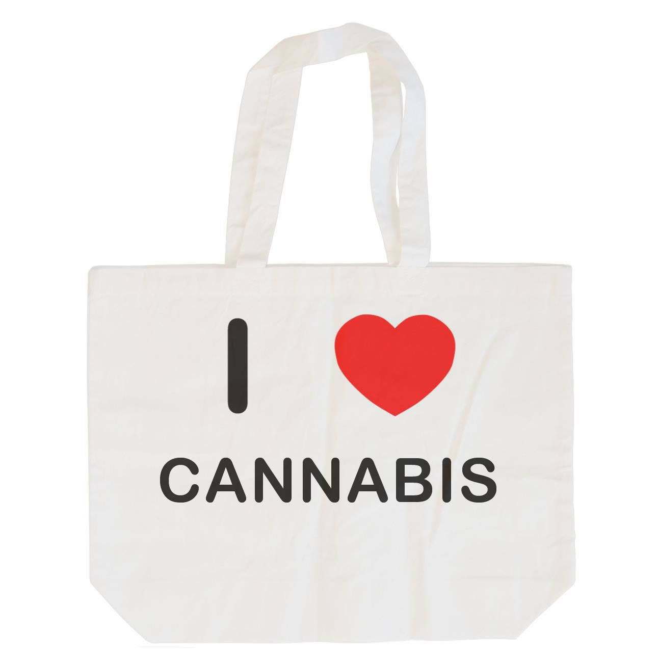 I Love Cannabis - Cotton Bag | Size choice Tote, Shopper or Sling