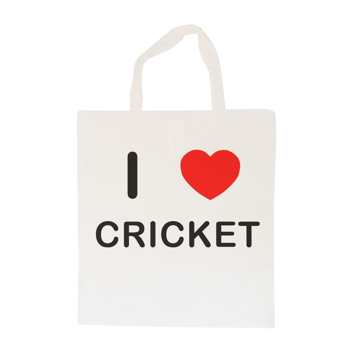 I Love Cricket - Cotton Bag | Size choice Tote, Shopper or Sling
