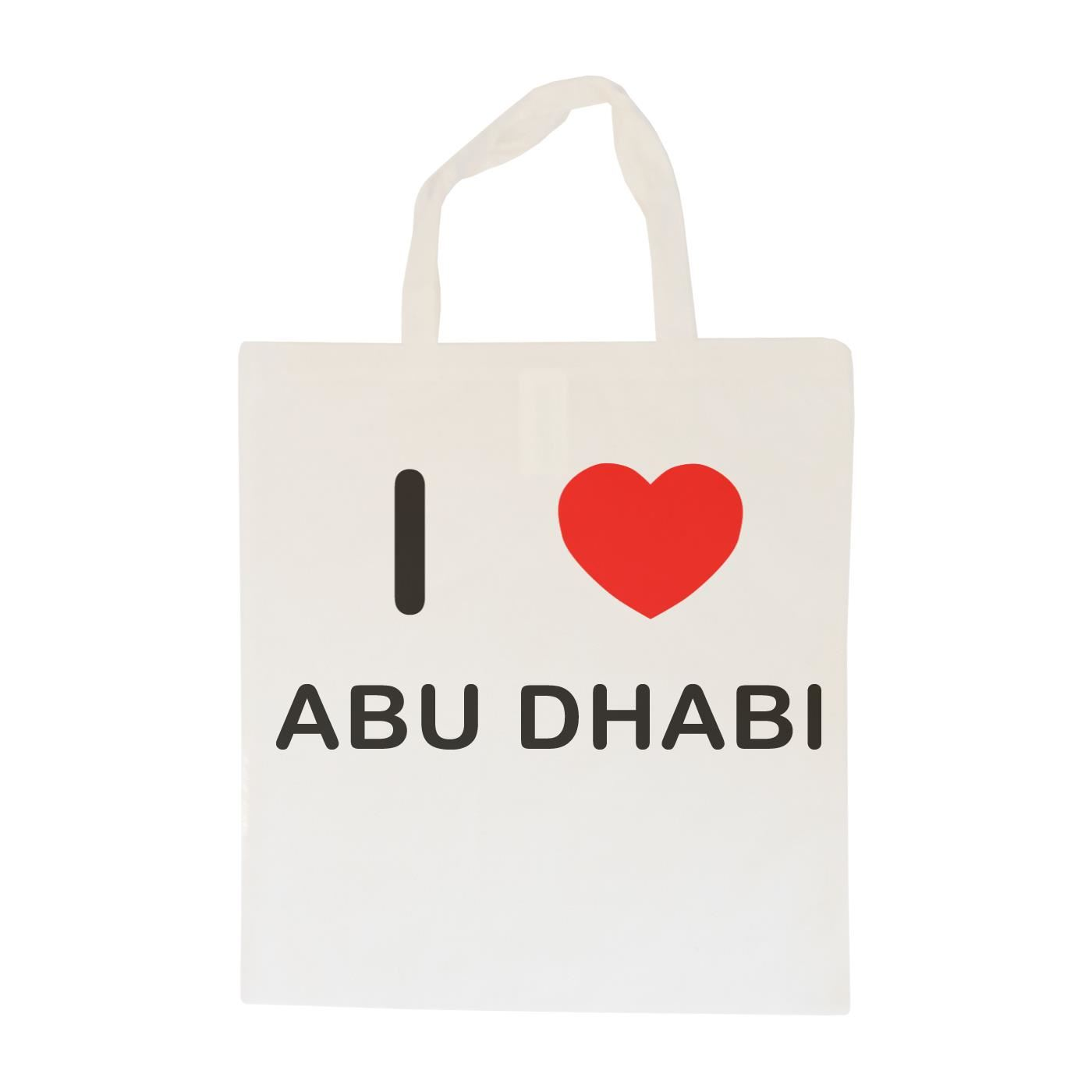 Cotton BagSize choice Tote I Love Abu Dhabi Shopper or Sling