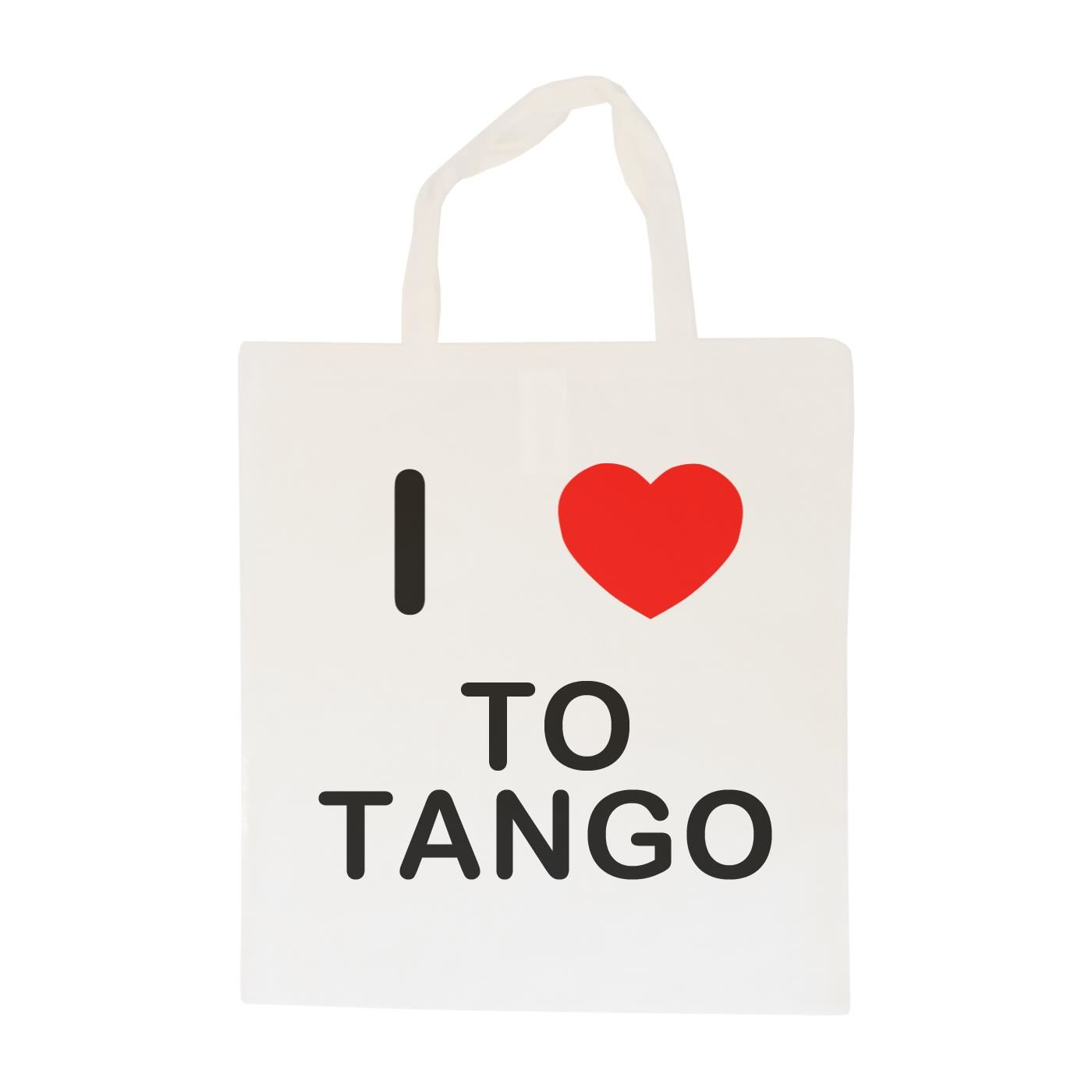 I Love To Tango - Cotton Bag | Size choice Tote, Shopper or Sling