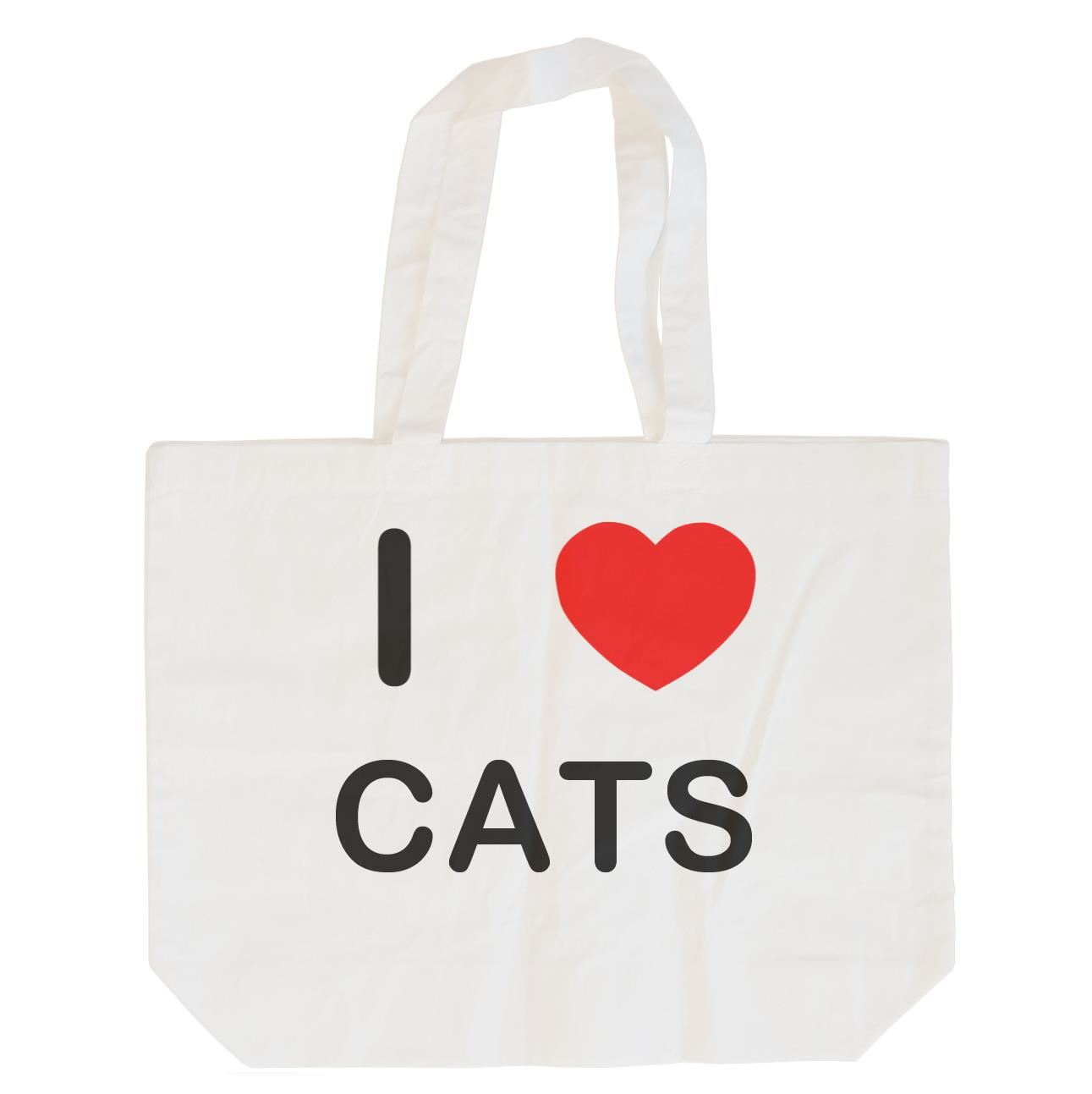 I Love Cats - Cotton Bag | Size choice Tote, Shopper or Sling