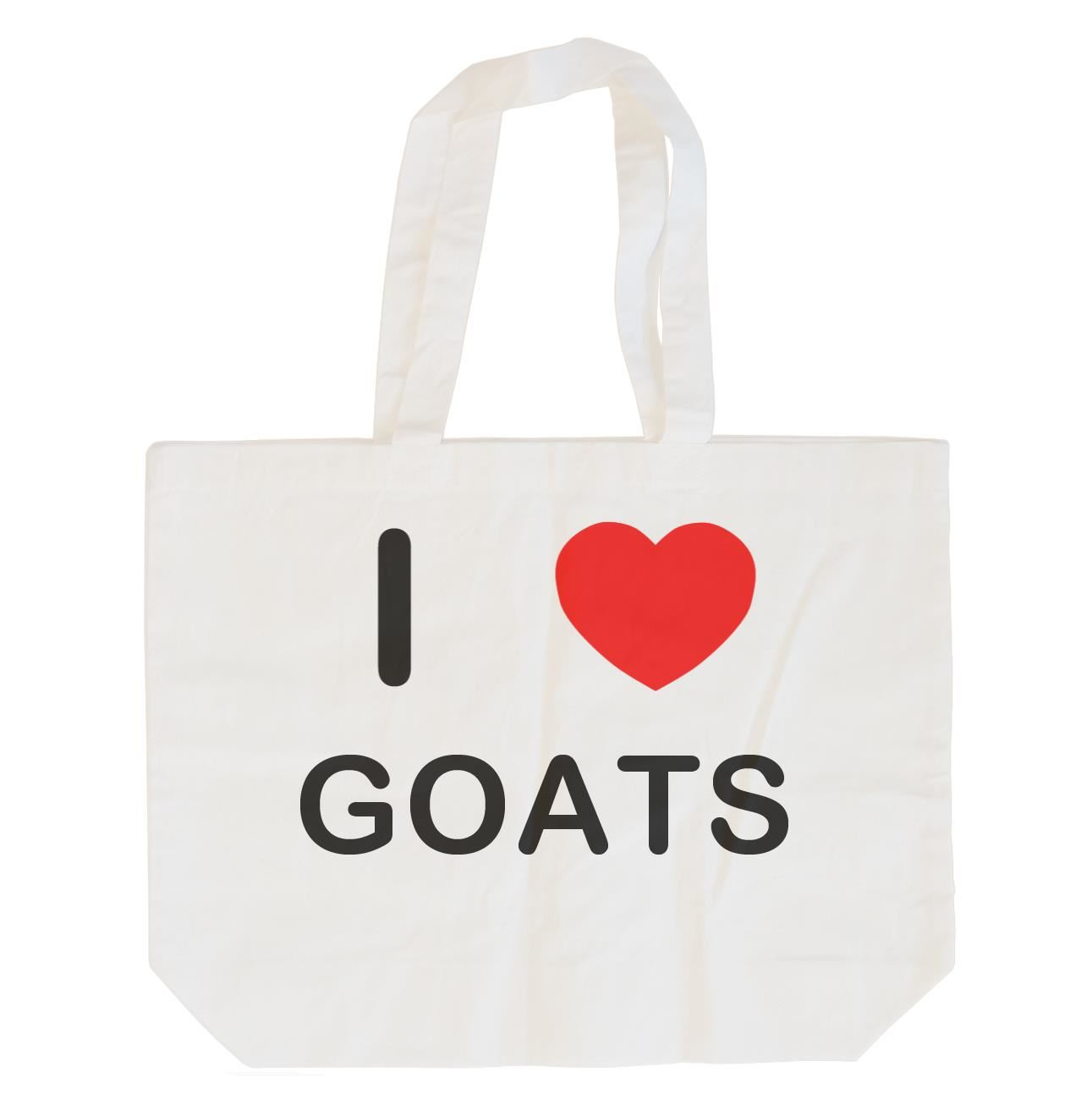 I Love Goats - Cotton Bag | Size choice Tote, Shopper or Sling