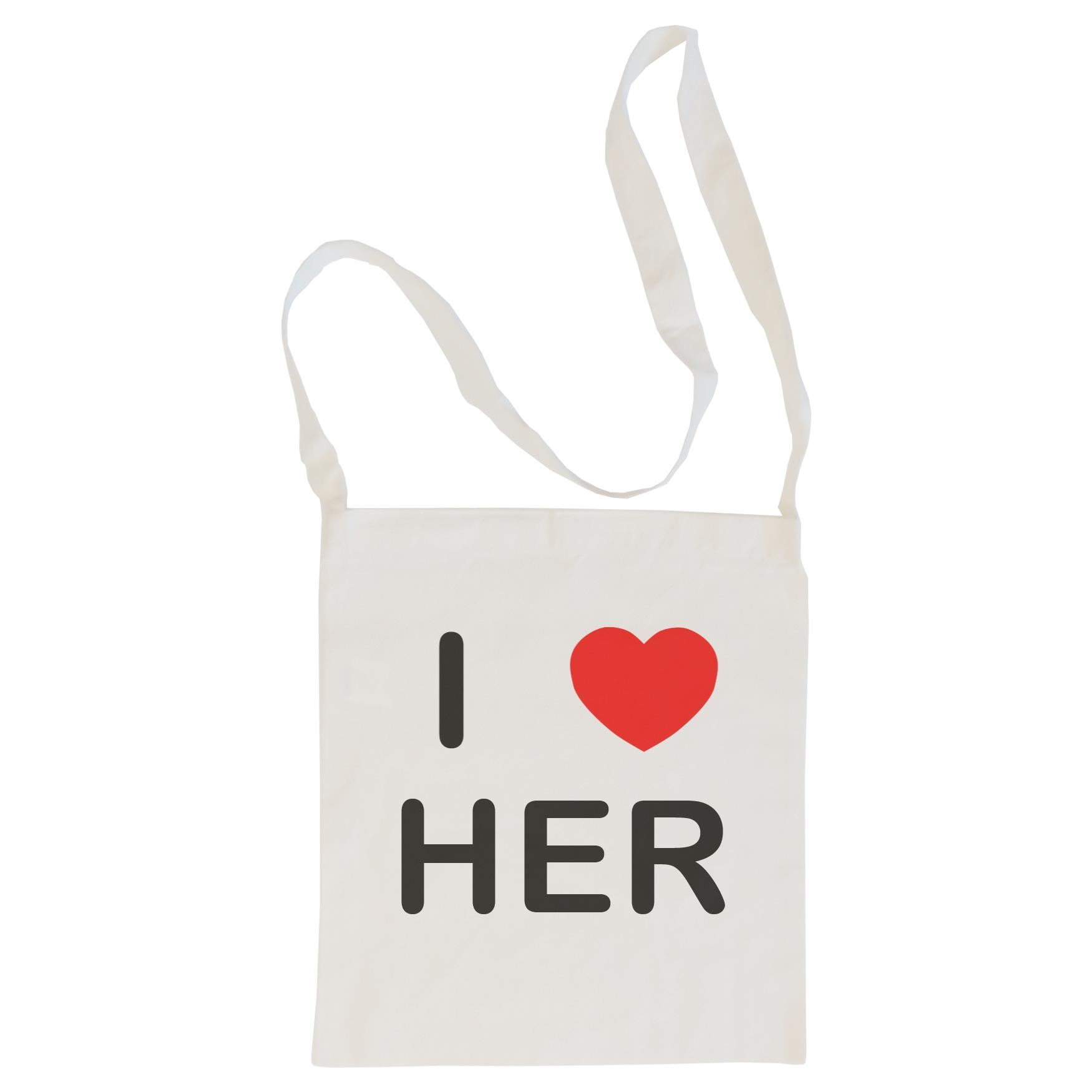 I Love Her - Cotton Bag | Size choice Tote, Shopper or Sling