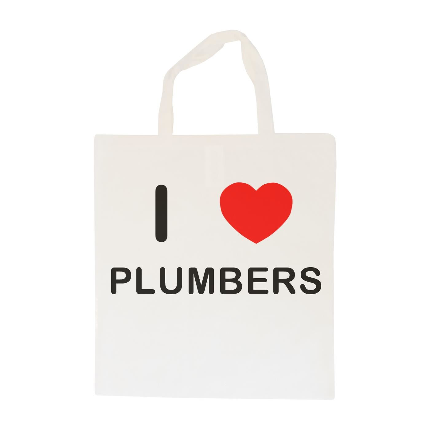 I Love Plumbers - Cotton Bag | Size choice Tote, Shopper or Sling
