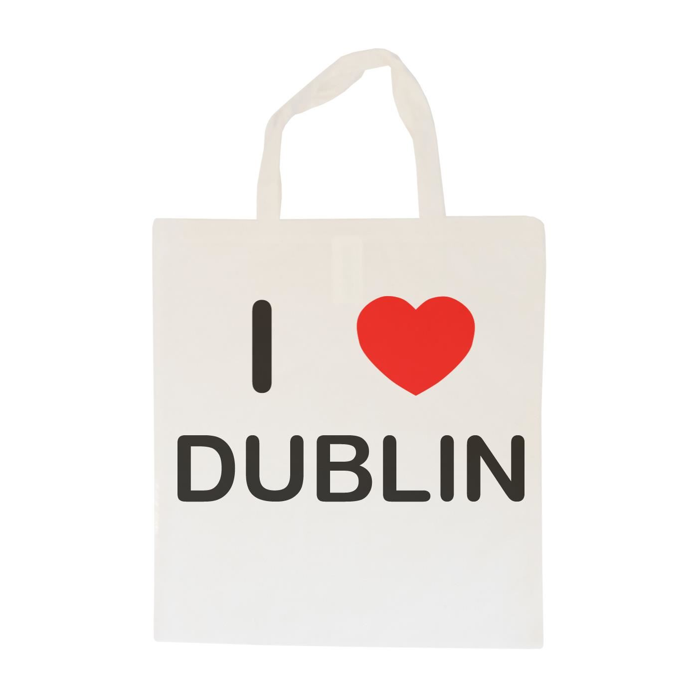 I Love Dublin - Cotton Bag | Size choice Tote, Shopper or Sling